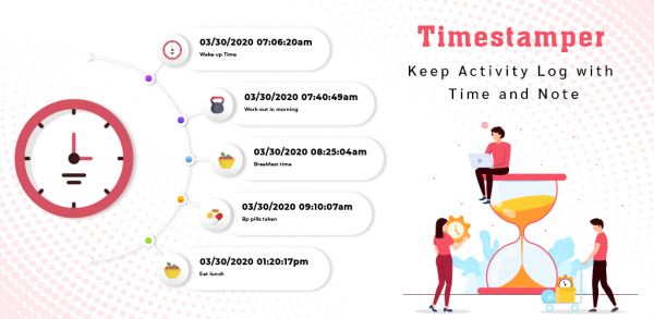 Timestamper: Keep Activity Log with Time and Note